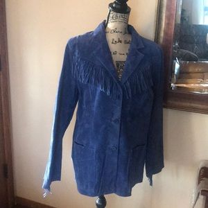 Denim and company blue suede jacket